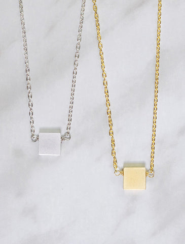 little square necklace