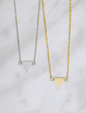 little triangle necklace