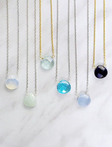 circa necklace . opal
