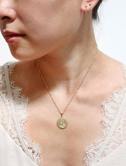 small st christopher necklace modelled