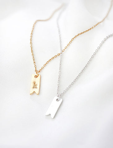 chevron bar necklace
