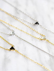 tria Y drop slip necklace