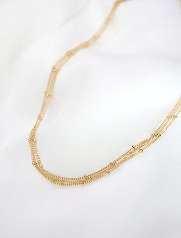 basic pailette (large) chain necklace