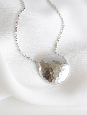 full moon necklace . petite