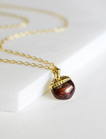 little acorn necklace