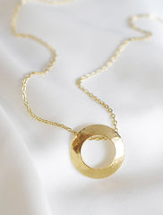 open moon necklace