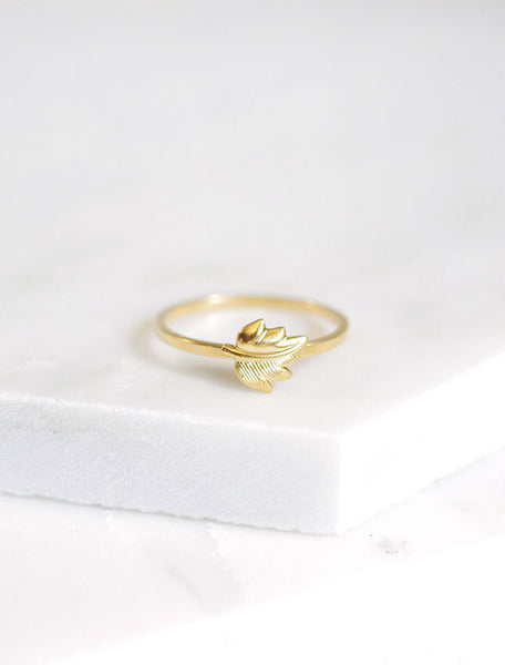 gold leaf stacking ring