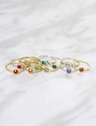 flower child rings . set of 3