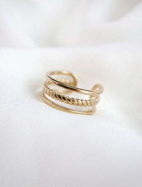 gold dainty cage ring