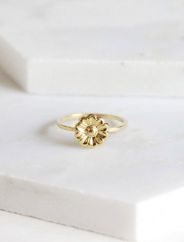 gold daisy flower ring