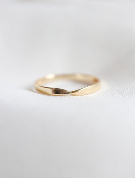 14k gold vermeil flat twisted ring