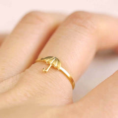 gold umbrella ring