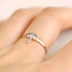 silver umbrella ring