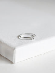 silver initial stacking ring