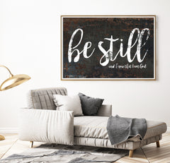 Be Still and Know Printable Wall Art - Be Still Print
