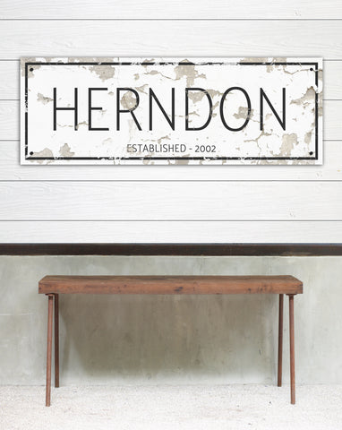 Customized Vintage Metal Signs - Metal Name Signs