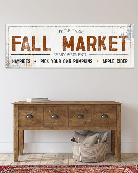 Fall Farmhouse Decor Hayrides Pick Your Own Pumpkins Canvas Art
