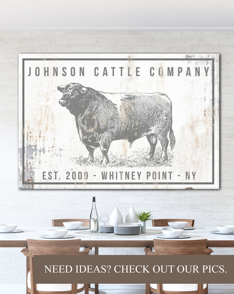 Personalized Home Decor Farm Sign - Personalized Gift Ideas for Modern Farmhouse Wall Art