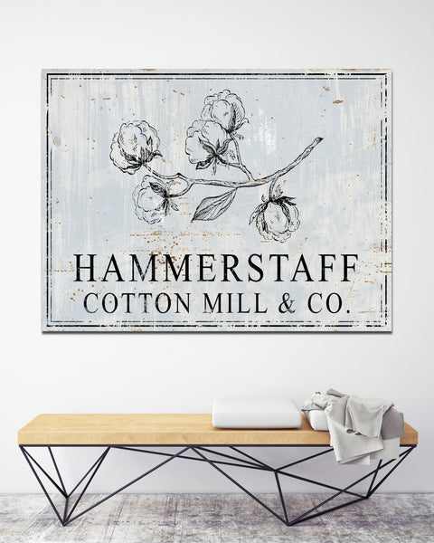 Last Name Personalized Canvas Prints - Cotton Mill & Co. Farmhouse Decor