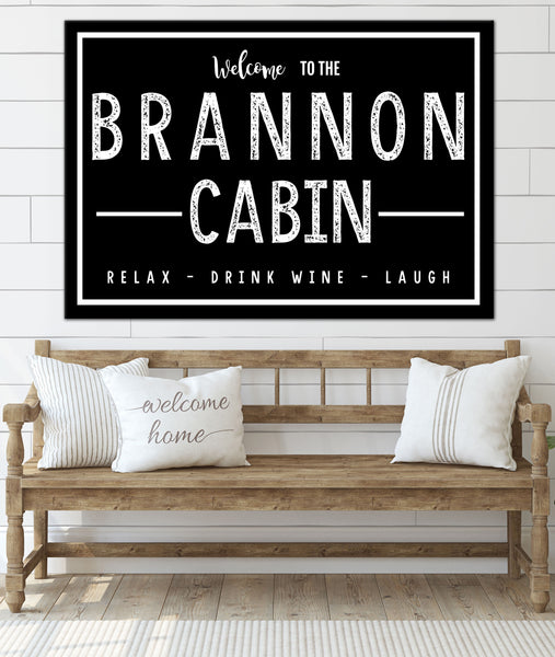 Personalized Home Sign  - Family Established Name Sign - Last Name Sign