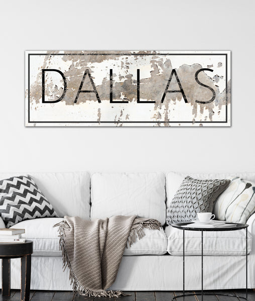 Industrial Farmhouse Decor Custom Name Sign Canvas Art