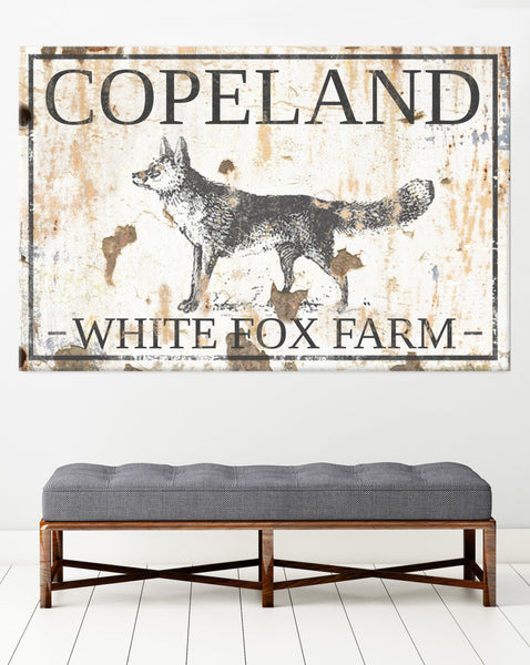 White Fox Farm Personalized Wall Art by Walls of Wisdom