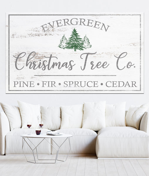 Christmas Tree Co. Farmhouse Decor Canvas Wall Art
