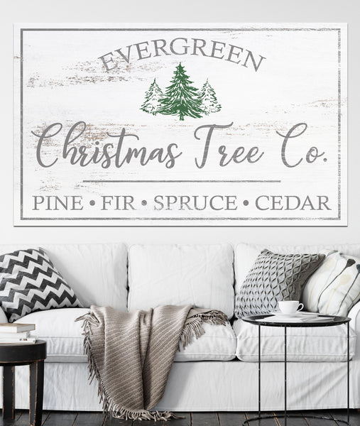 Tree Farm Sign Farmhouse Decor Vintage Canvas Art