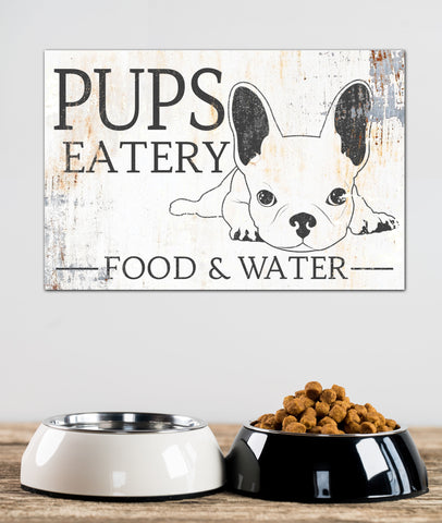 French Bulldog Wall Art - Frenchie Farmhouse Food Station Art
