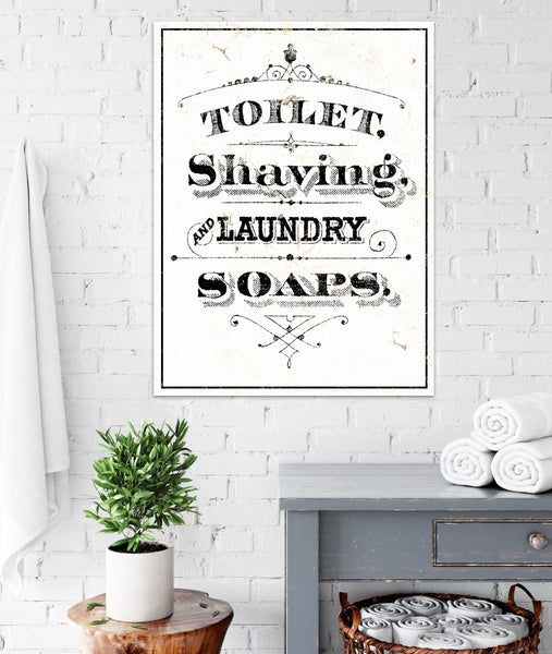Farmhouse Bathroom Toilet Wall Art - French Country Cottage Bathroom Decor