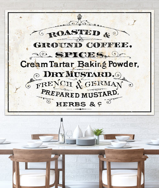 Modern Farmhouse Kitchen Wall Art Coffee Sign - French Country Cottage Kitchen Wall Decor