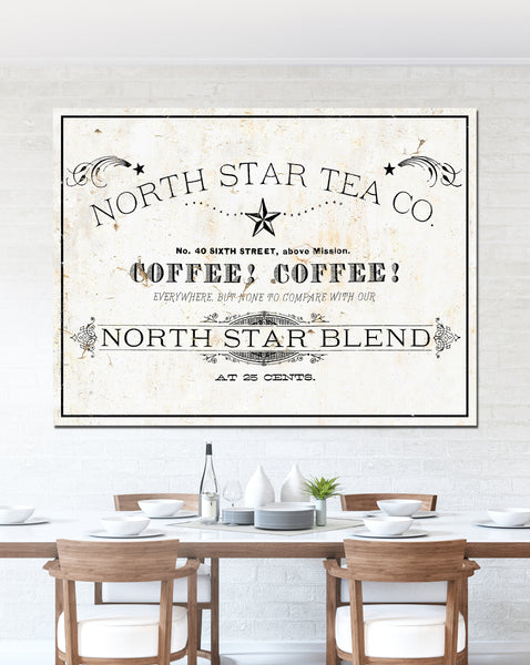 Farmhouse Decor Wall Art Tea Sign For Kitchen French Cottage Sign