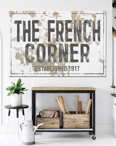 French Country Farmhouse Decor Canvas Wall Art
