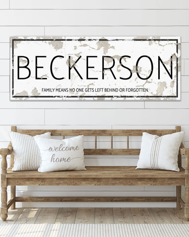 White Chippy Personalized Farmhouse Canvas Wall Art  NLSC0124
