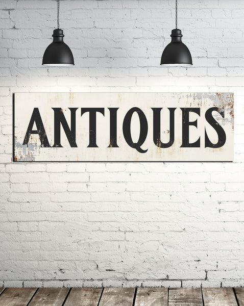 Farmhouse Decor Antiques Sign - Fixer Upper Style Wall Art