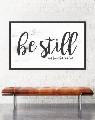 Be Still & Know Inspirational Wall Art Canvas Print
