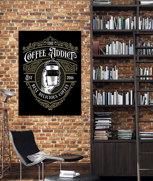 Solid Black Canvas Logo Wall Art Print - L12