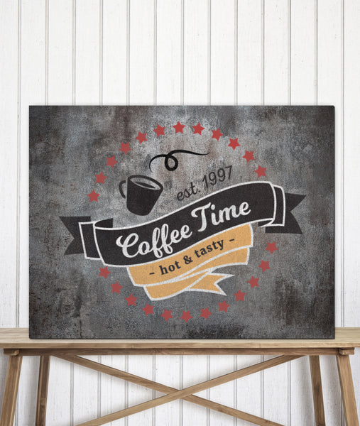 Distressed Metal Style Logo to Canvas Art Print - LT19