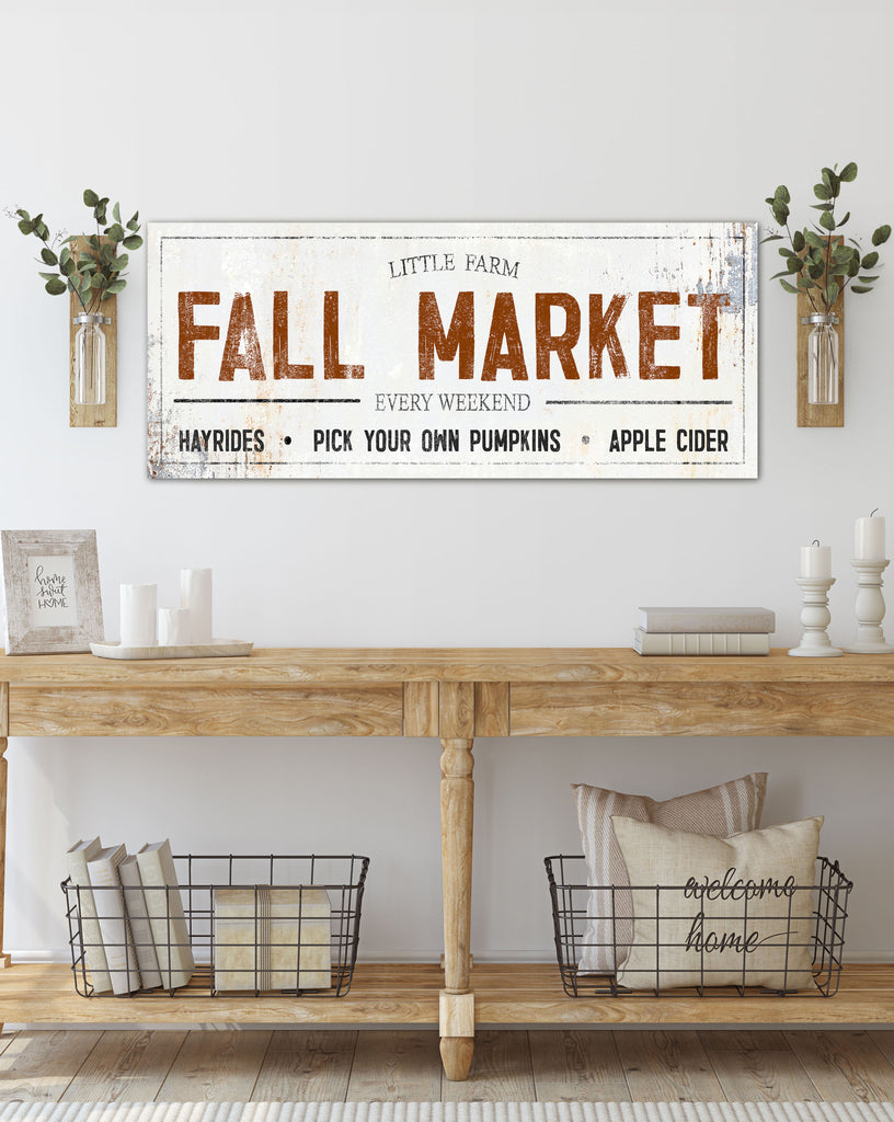 Fall Market Vintage Farmhouse Canvas Print - LC55