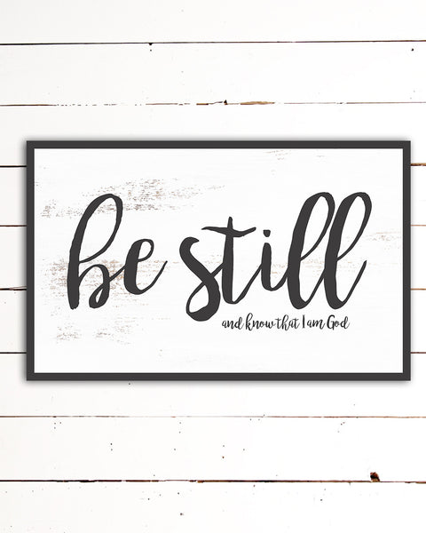 Be Still Canvas Wall Art