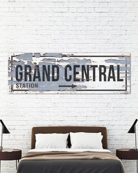 Grand Central Station - Modern Home Decor Wall Art Sign