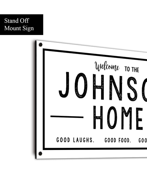 Metal Family Last Name Sign - Personalized Outdoor Sign for Porches - Outdoor Living Space Custom Metal Sign
