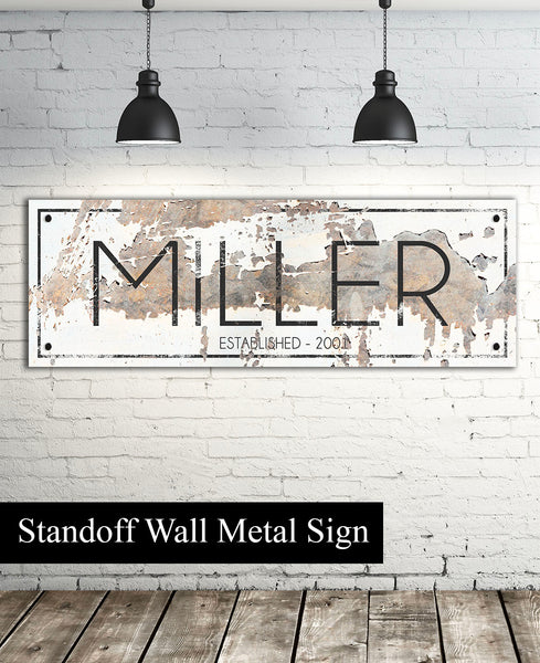 Metal Personalized Name Sign - Personalized Family Last Name Sign