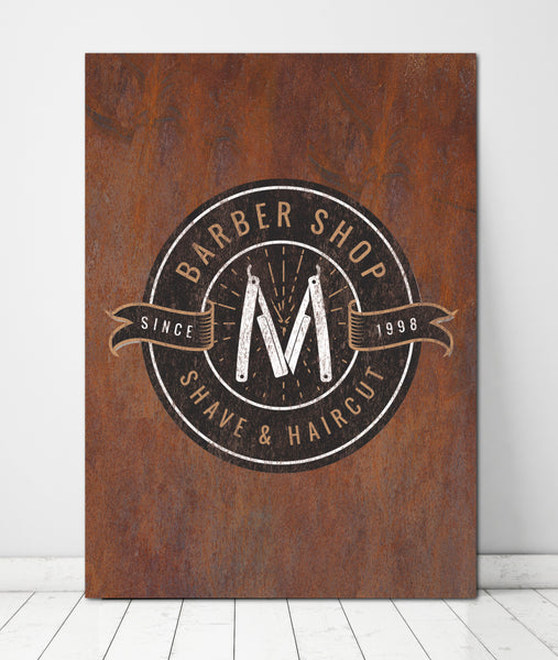 Rusted Metal Style Logo to Canvas Wall Art Print - LT14