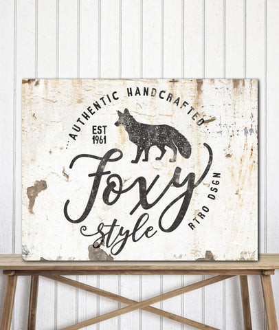 Creamy Metal Style Logo to Canvas Art Print - LT17