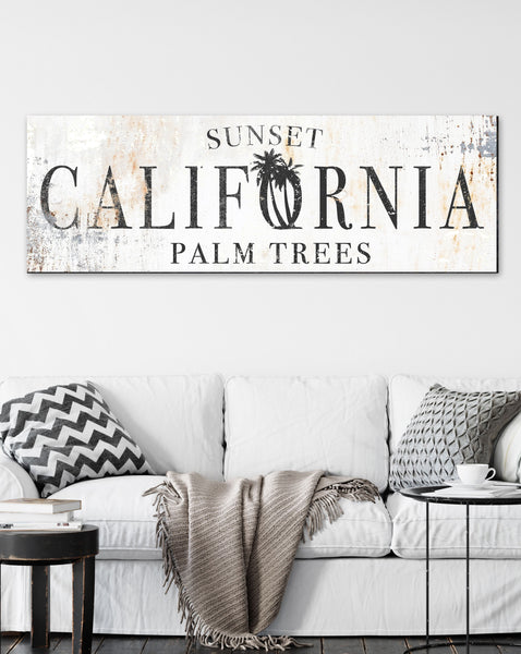 Vintage Wall Art California Sign