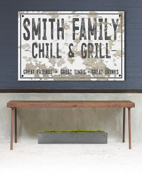 Personalized Outdoor Sign for Porches - Metal Family Last Name Sign