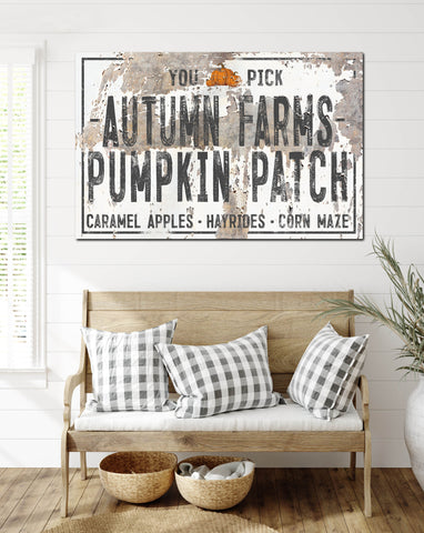 Chippy Autumn Farms Pumpkin Patch Canvas Print - LC52