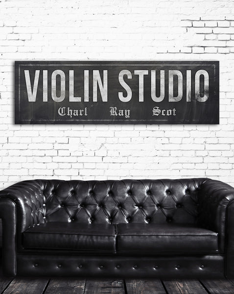 Antique Farmhouse Vintage Sign - Large Modern Farmhouse Sign - Violin Sign