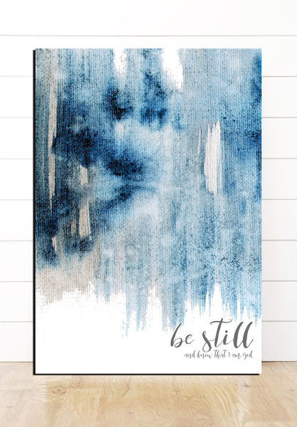 Be Still Modern Farmhouse Watercolor Canvas Art
